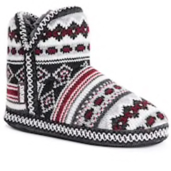 e9ae767cd830 MUK LUKS Amira Knit Bootie Slippers